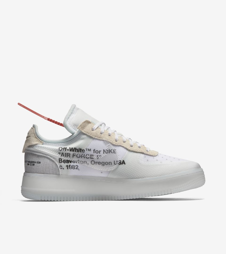 nike air force 1 off white bianche