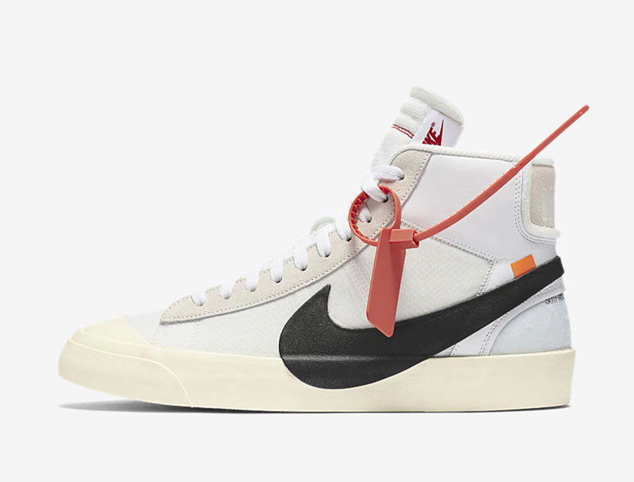nike blazer off white